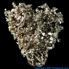 Platinum Vapor deposited crystal