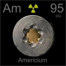Americium Smoke detector element