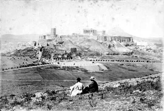Φωτογραφίες του 19ου αιώνα Της Παλιάς Αθήνας