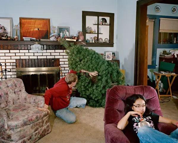 Max With Christmas Tree