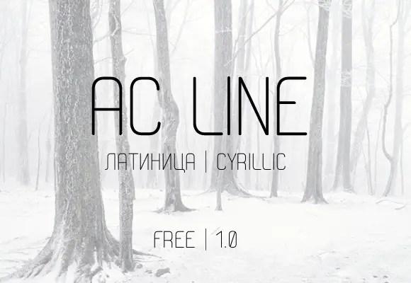 AC-Line-free-font