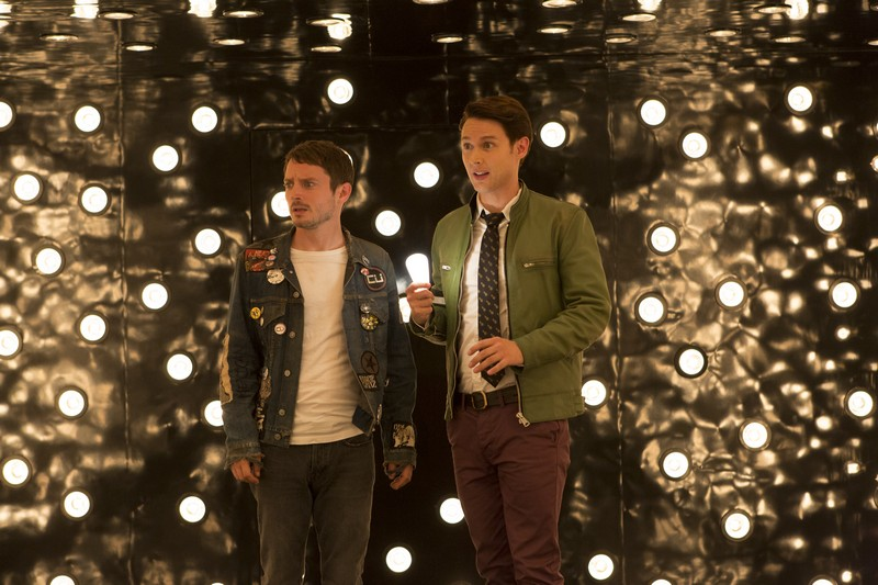 Elijah Wood as Todd Brotzman, Samuel Barnett as Dirk Gently - Dirk Gently's Holistic Detective Agency _ Season 1, Episode 4 - Photo Credit: Bettina Strauss/BBCA