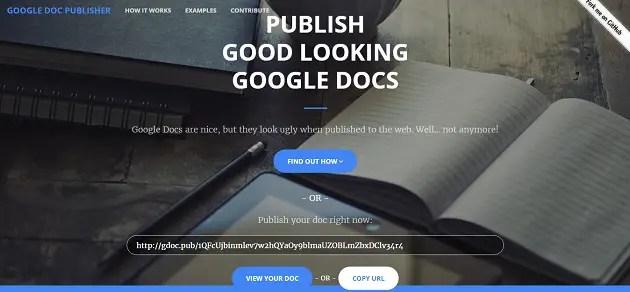 Google-Doc-Publisher