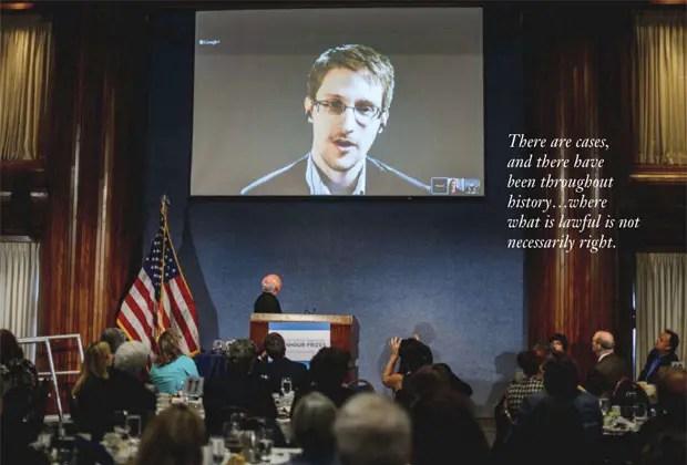Snowden teleconferencia