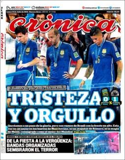"""Crónica: """"Tristeza y orgullo"""""""