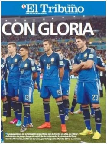 """El Tribuno: """"Con gloria"""""""