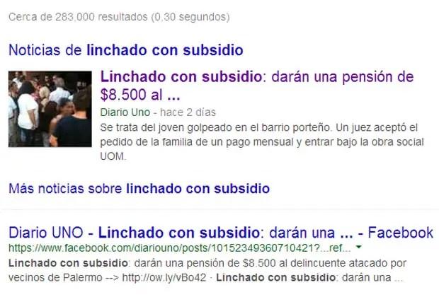 linchado subsidio
