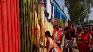Borrando Mural con Diputados del PRI y PAN.