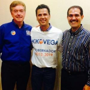 Kiko Vega, Jorge Cornejo y Guillermo Padrés.