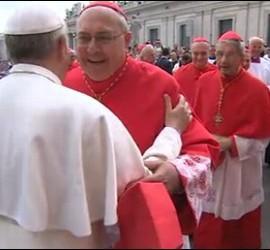 El Papa con el cardenal Sandri