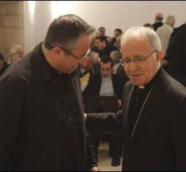 Santiago Bohigues, con el obispo de Zamora