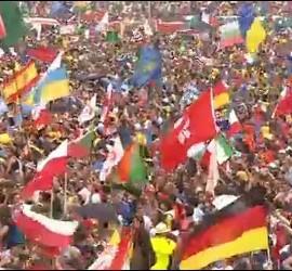 Centenares de miles de jóvenes, con el Papa