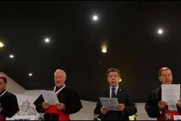 El presidente Santos, hoy, en la apertura del Congreso