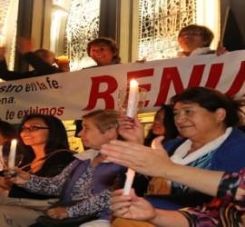 Manifestación en contra del nombramiento de Barros para Osorno