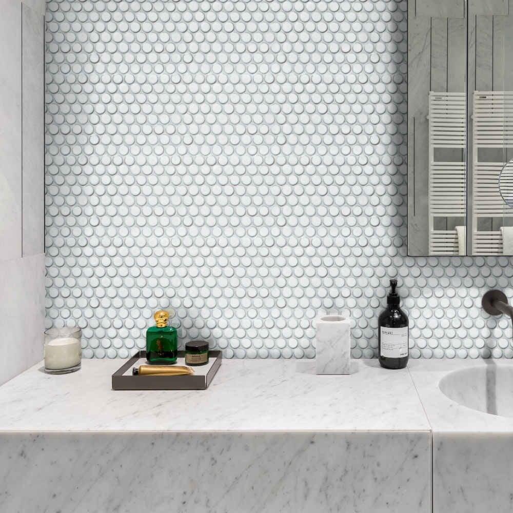 ca pietra yoga penny porcelain mosaic wall tile