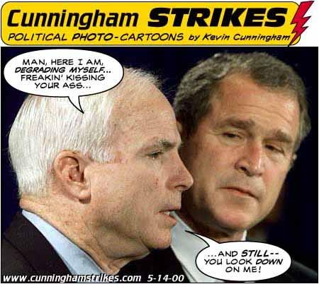 McCain and Bush, cartoon