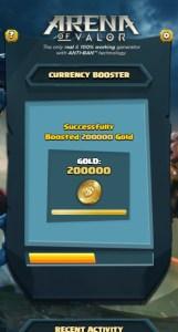 Arena of Valor Gold Gems Vouchers Generator Step 3