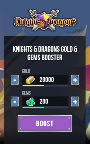Knights & Dragons Gold Gems Generator