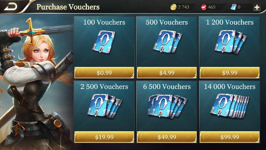 Arena of Valor Vouchers Store
