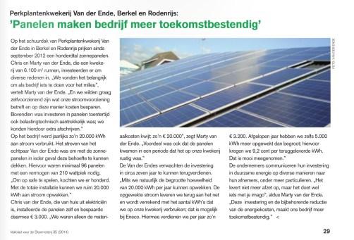 Bloemistrij zonnepanelen
