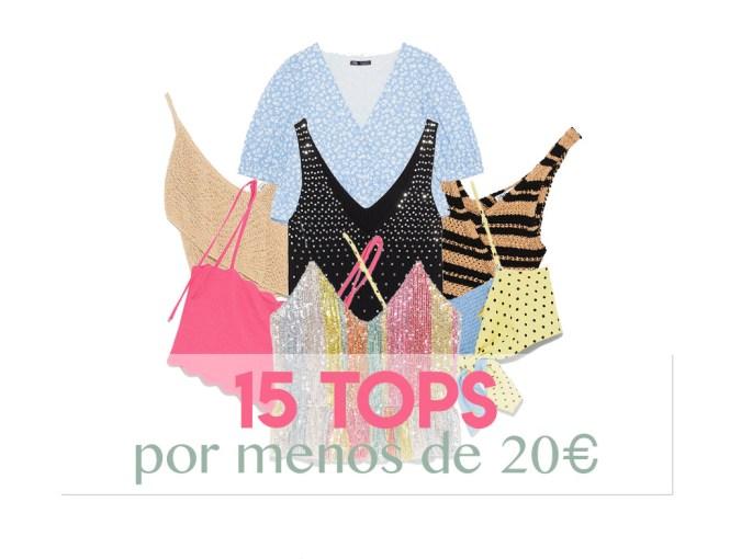 15 Tops por menos de 20€ en Zara