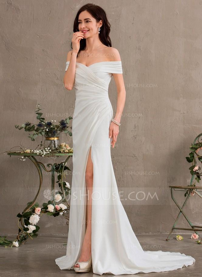 Vestido de novia hombros fuera