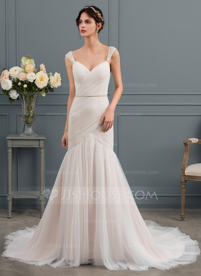 Vestido corte sirena de novia