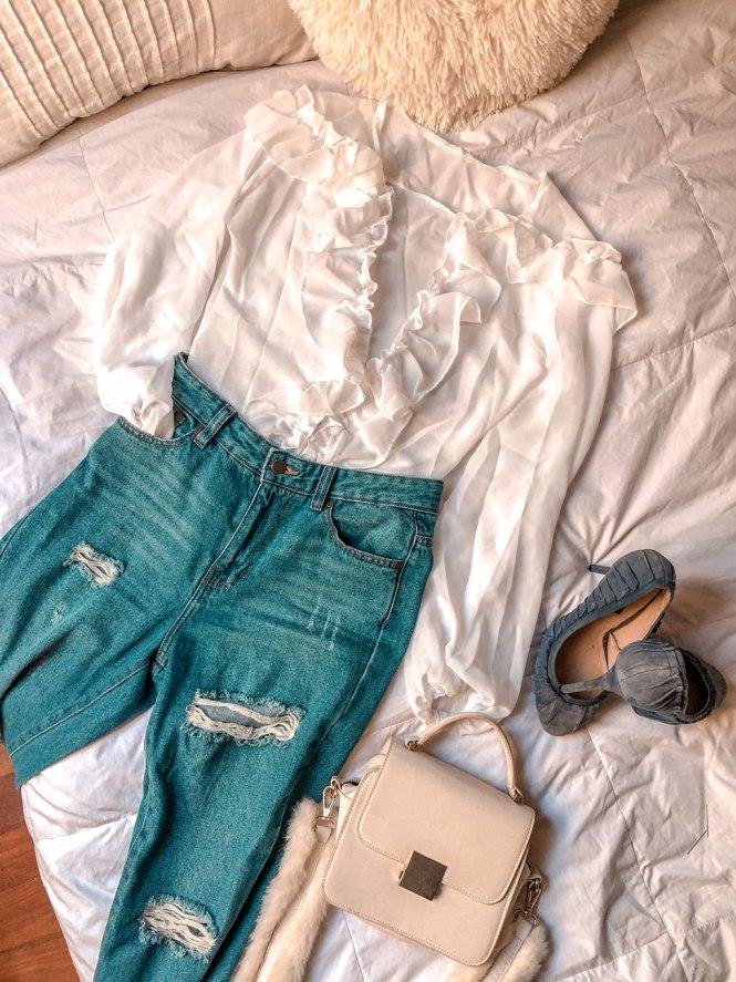 Body blusa blanco Femme Luxe