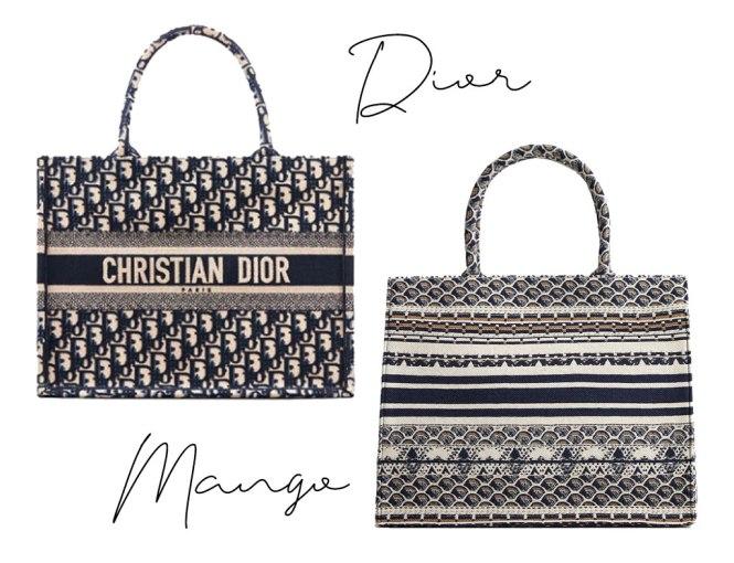 Bolso Dior book tote y su clon de Mango
