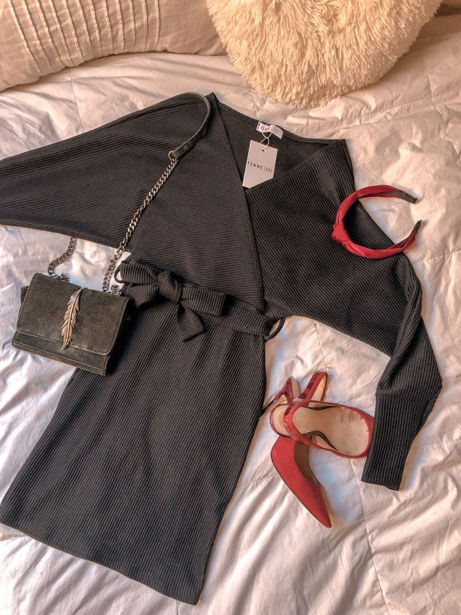 Vestido canalé Femme Luxe