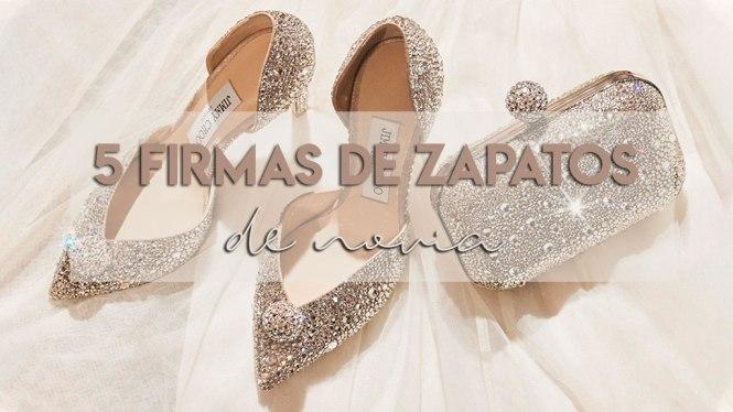 5 Firmas de zapatos de novia de ensueño