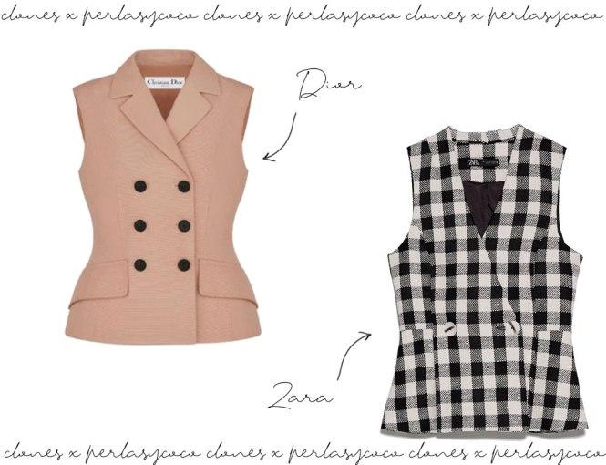 Parecidos razonables Chaqueta sin mangas Dior y chaleco Zara