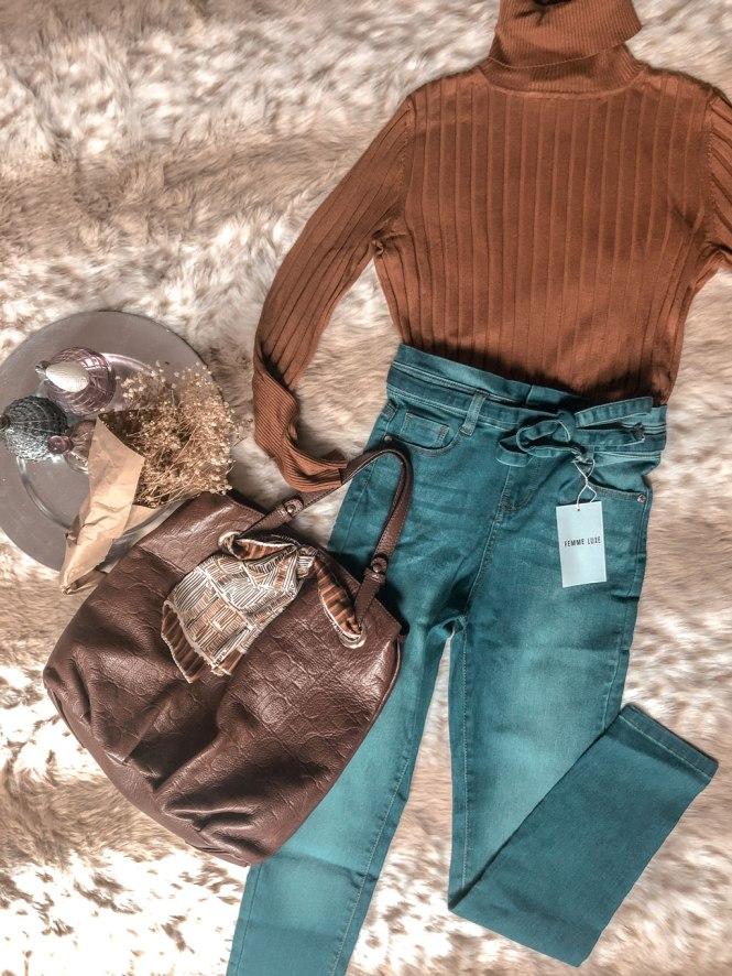 Jeans paper bag del haul de Femme Luxe