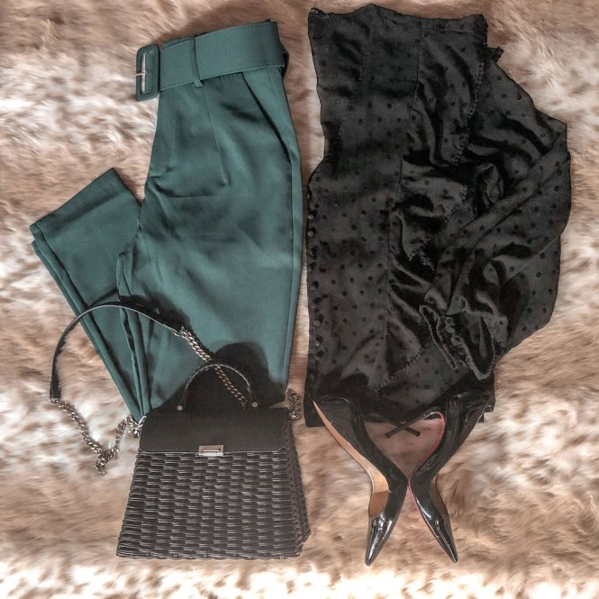 Paper bag pantalones Femme Luxe
