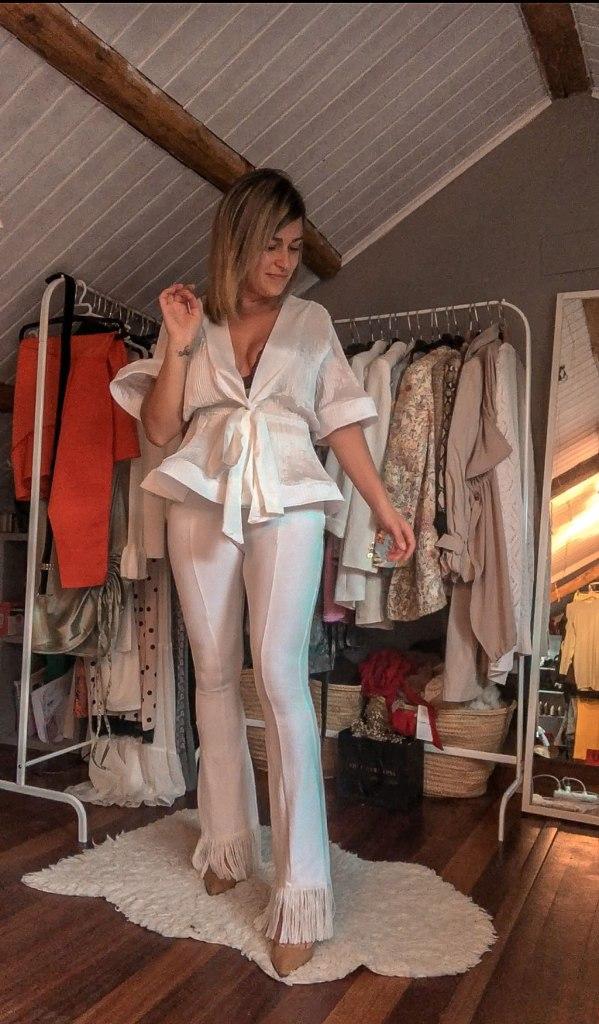 Blusa blanca Femme Luxe
