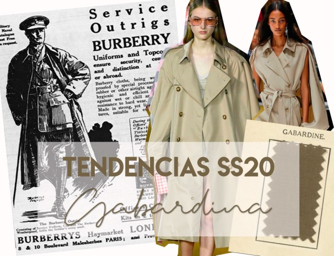 Tendencias SS20: Gabardina