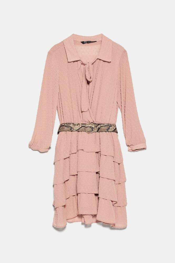 Vestido plumeti Zara