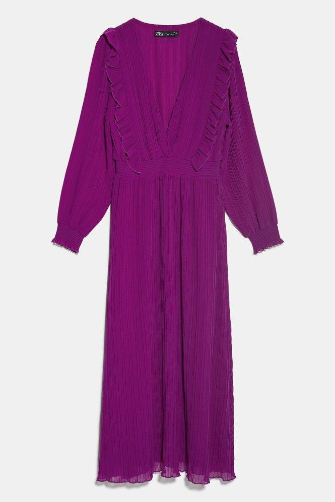 Vestido plisado por menos de 20€ Zara