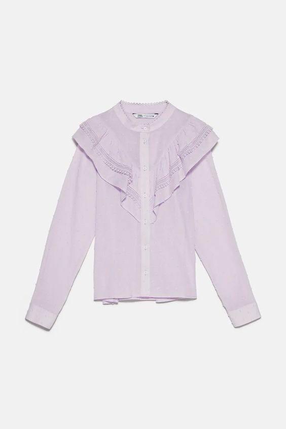 Blusas Zara: Plumeti y volantes