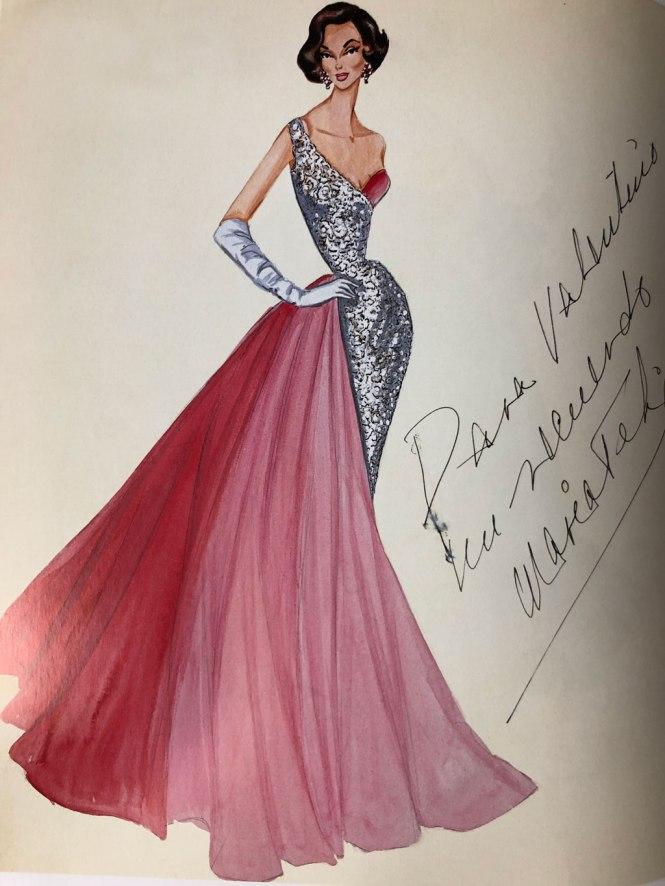 Boceto a todo color de el libro Una grande historia italiana de Valentino GAravani