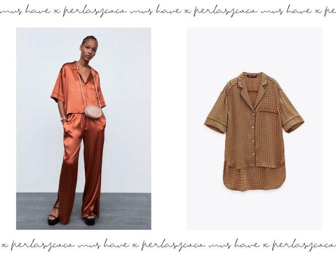 Conjunto pijamero + camisa todo de Zara