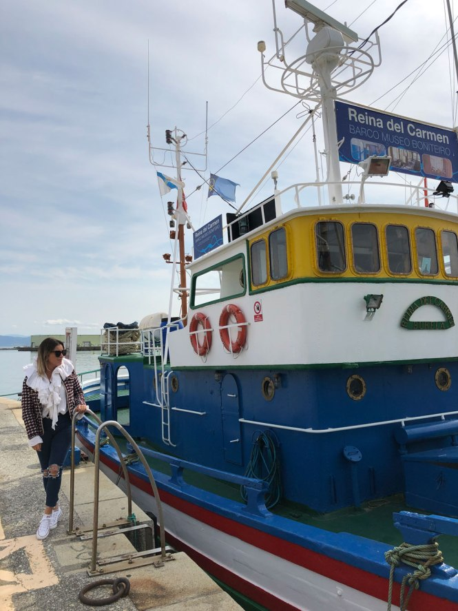 Barco museo bonitero en Burela