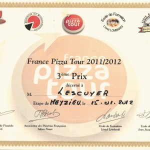 3e prix au France Pizza Tour 2011/2012 - Georges Lescuyer