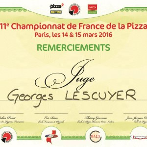 Juge au championnat de France de la Pizza 2016 - Georges Lescuyer