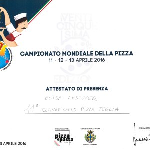 Championnat Mondial de la Pizza 2016 - Elisa Lescuyer