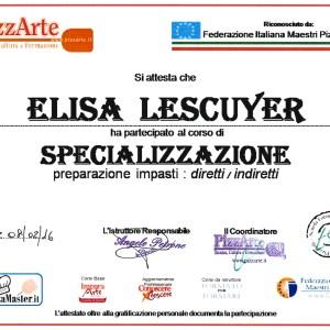 Spécialisation préparation des pâtes direct & indirect - Elisa Lescuyer