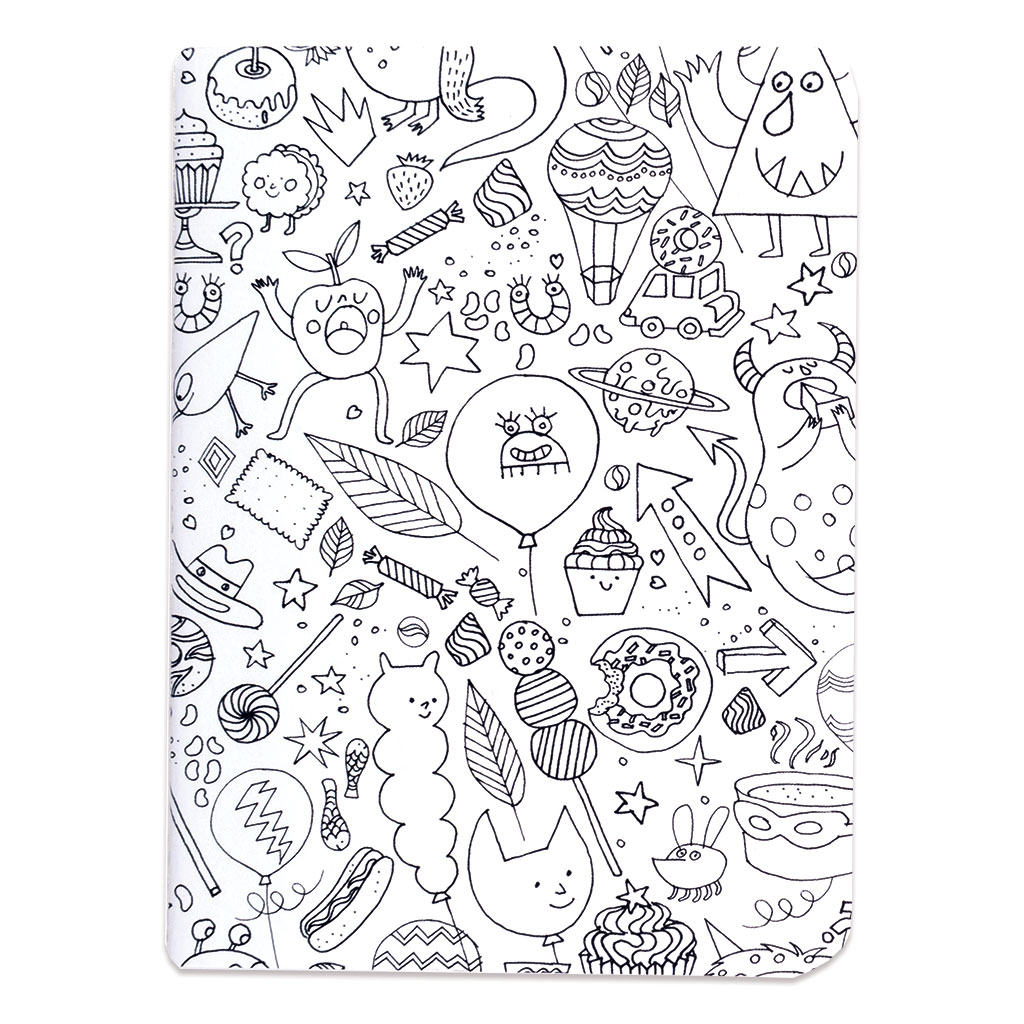 Set By Paper Poetry Notebook 105x140mm Colouring Activity Monsters X2