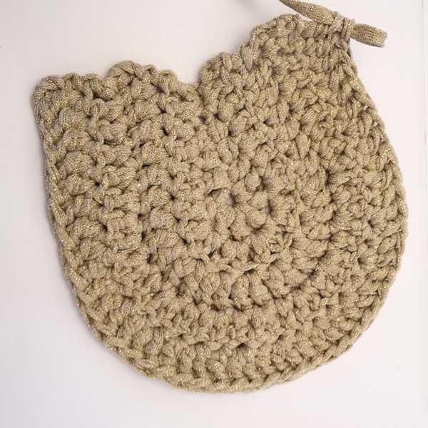 sac rond diy au crochet avec du fil