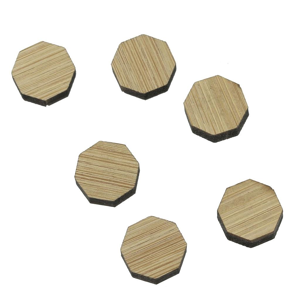 mini cabochon en bois laser cut forme octogonale a decorer peindre 11 5mm x1
