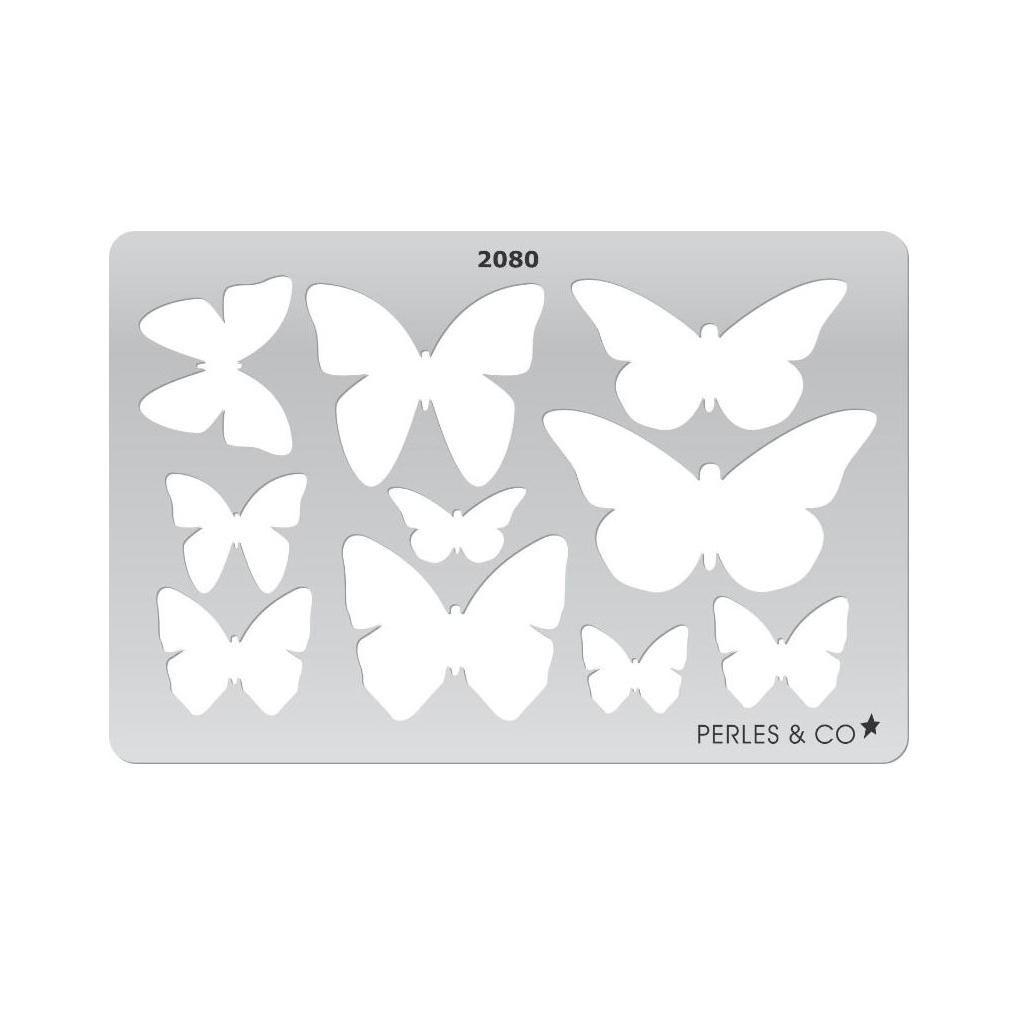 gabarit rigide pour pate polymere 152x100 mm motifs papillons